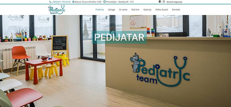 izrada sajta pediatricteam
